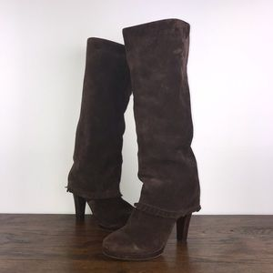 MATISSE Tantalize Tall Boots Brown Suede Fringe